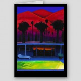 """Palm Springs Dawn"" Fine Art Note Card"