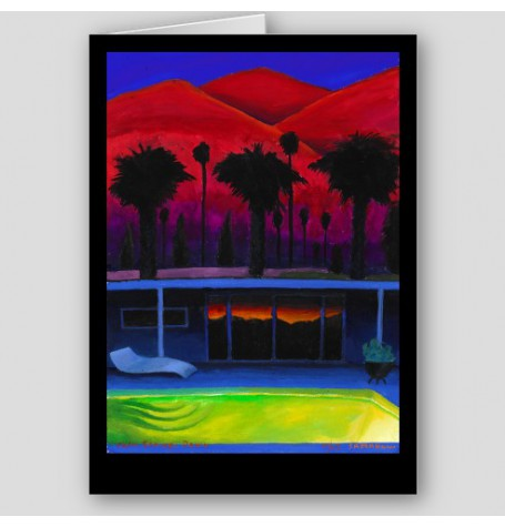 """Palm Springs Dawn"" Fine Art Note Card"