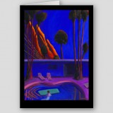 """Dawn, Palm Springs Pool"" Fine Art Note Card"