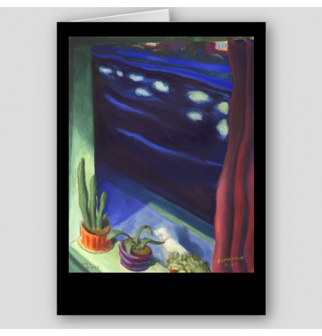 """Canal Lights"" Fine Art Note Card"