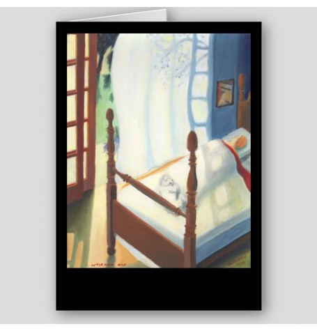 """Afternoon Nap"" Fine Art Note Card"